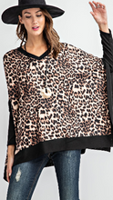 Load image into Gallery viewer, Ariana leopard poncho top