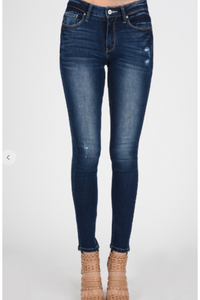 Kan Can dark roast straight leg jeans