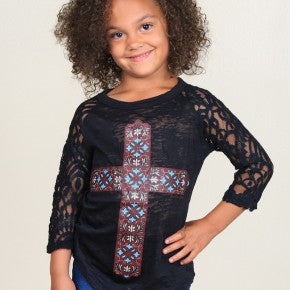 Girl's Marissa Cross Raglan