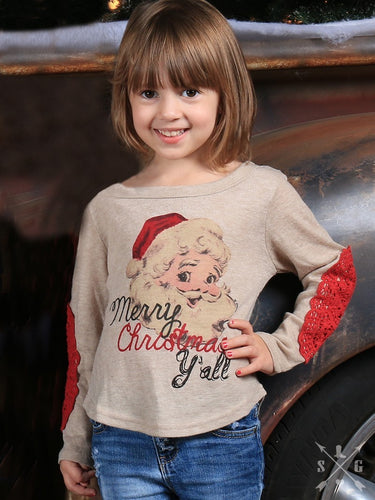 Girls Merry Christmas Y'all Sweater