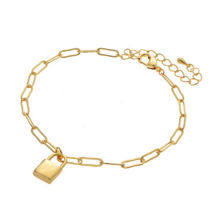Locked Away Hera Lock & Link Bracelet