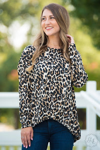 faux tied leopard sweater