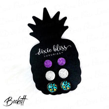 Load image into Gallery viewer, Dixie Bliss Beckett Neon Leopard Druzy Trio