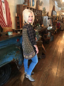 Colorado Plaid Paisley Flannel Tunic