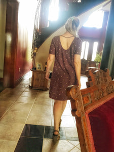 Polka Dot French Terry Dress