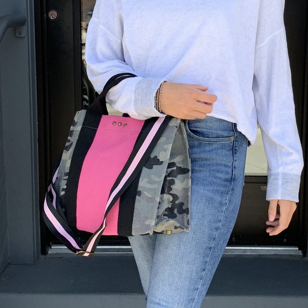 The Supreme Camo and Pink Tote