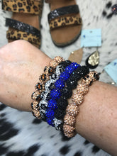 Load image into Gallery viewer, Leopard Bling Crystal Bead Bracelets