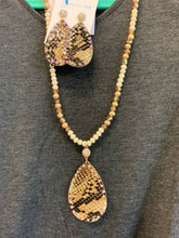 Load image into Gallery viewer, Going Wild Snake and AB Crystal Pendant