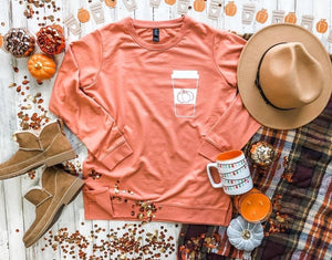 Pumpkin Spice Latte French Terry Top
