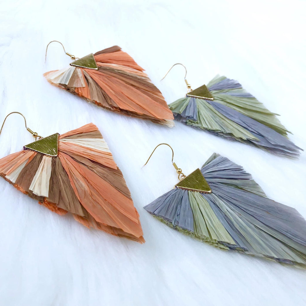 Fall Raffia Dreams Dangles by Dixie Bliss Luxuries