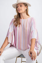 Load image into Gallery viewer, Mauve Candy Color Striped Top