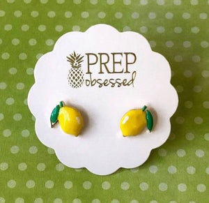 Prep Obsessed Taco, Margarita Summer Drink Earrings