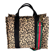 Load image into Gallery viewer, red green stripe cheetah bag