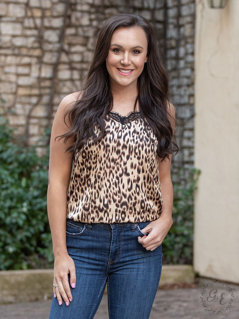 Wild Side Leopard and Lace Cami
