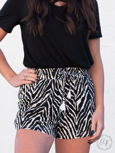 Wild and Free Zebra Shorts