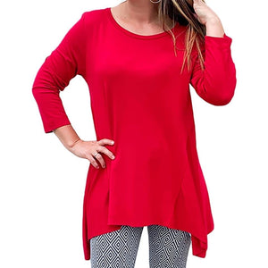 red career tunic