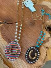 Load image into Gallery viewer, Serape Bling Horseshoe Necklace