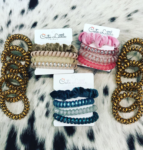 Velvet Scrunchie and Coil Hair tie sets