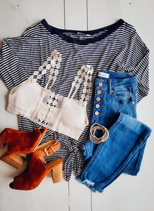 Crazy in love striped top
