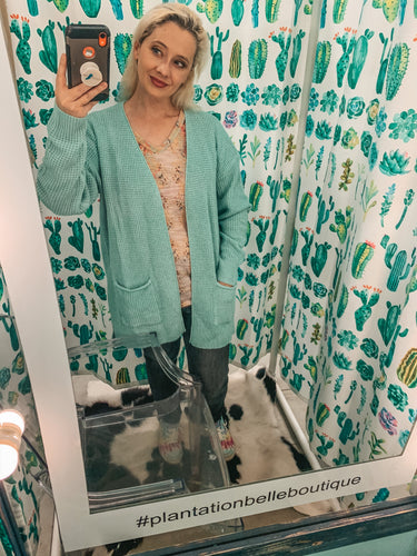 Just Minted Pocket Cardigan Sweater