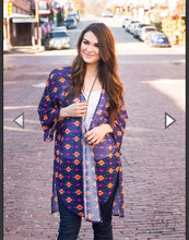 Load image into Gallery viewer, Wide Open Spaces Aztec Kimono