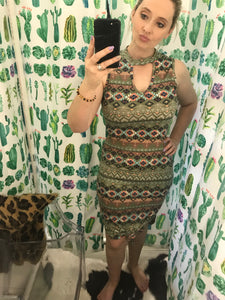 Mossy Aztec Bodycon Dress