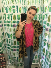 Load image into Gallery viewer, Mohair Leopard Sweater Jacket