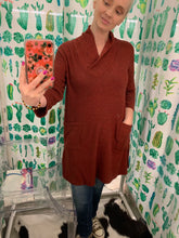Load image into Gallery viewer, Luxe Rust Sweater Tunic