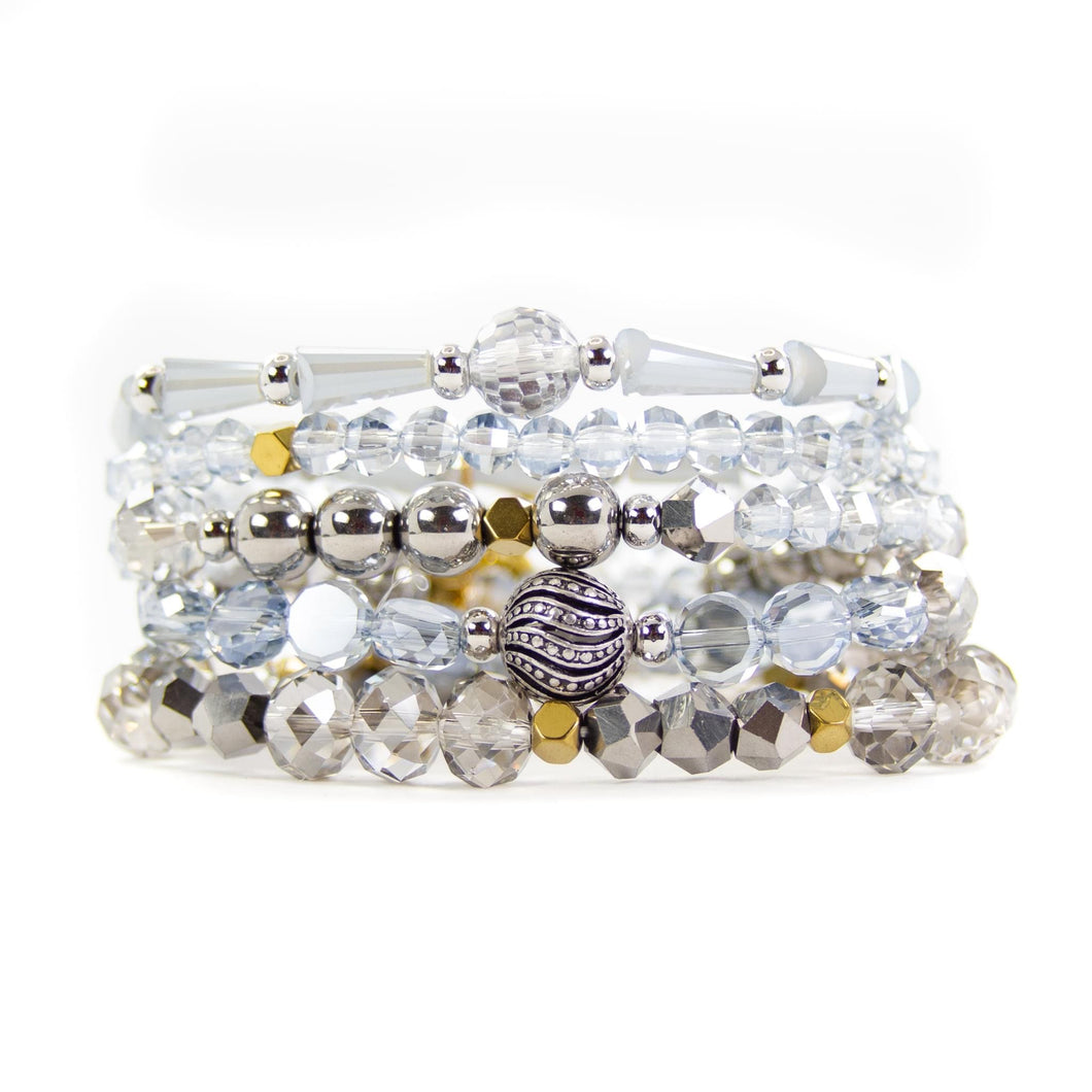 Savvy Bling Fog Silver Stack