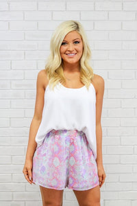 Sweet Hiss Pastel Snakeprint Dress Shorts