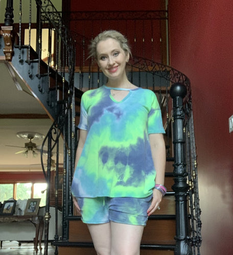 Agave Lime Tie Dye Loungewear Separates