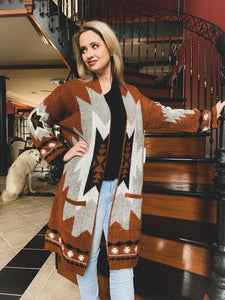 Aztec Morning Premium Sweater Coat