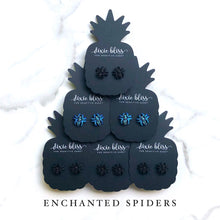 Load image into Gallery viewer, Dixie Bliss Enchanted Sparkly Spider Earrings