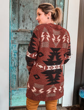 Load image into Gallery viewer, Brick Aztec Cardi Sweater