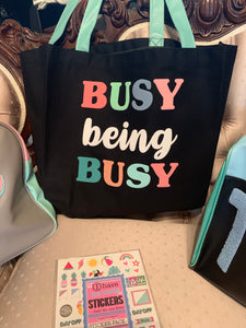 Busy Being Busy Large Market Tote