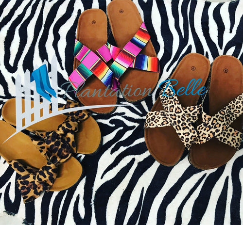 Serape Crossover Sandals