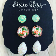 Load image into Gallery viewer, Dixie Bliss Flamingo Druzy Trio