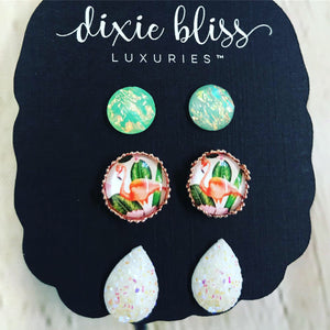 Dixie Bliss Flamingo Druzy Trio