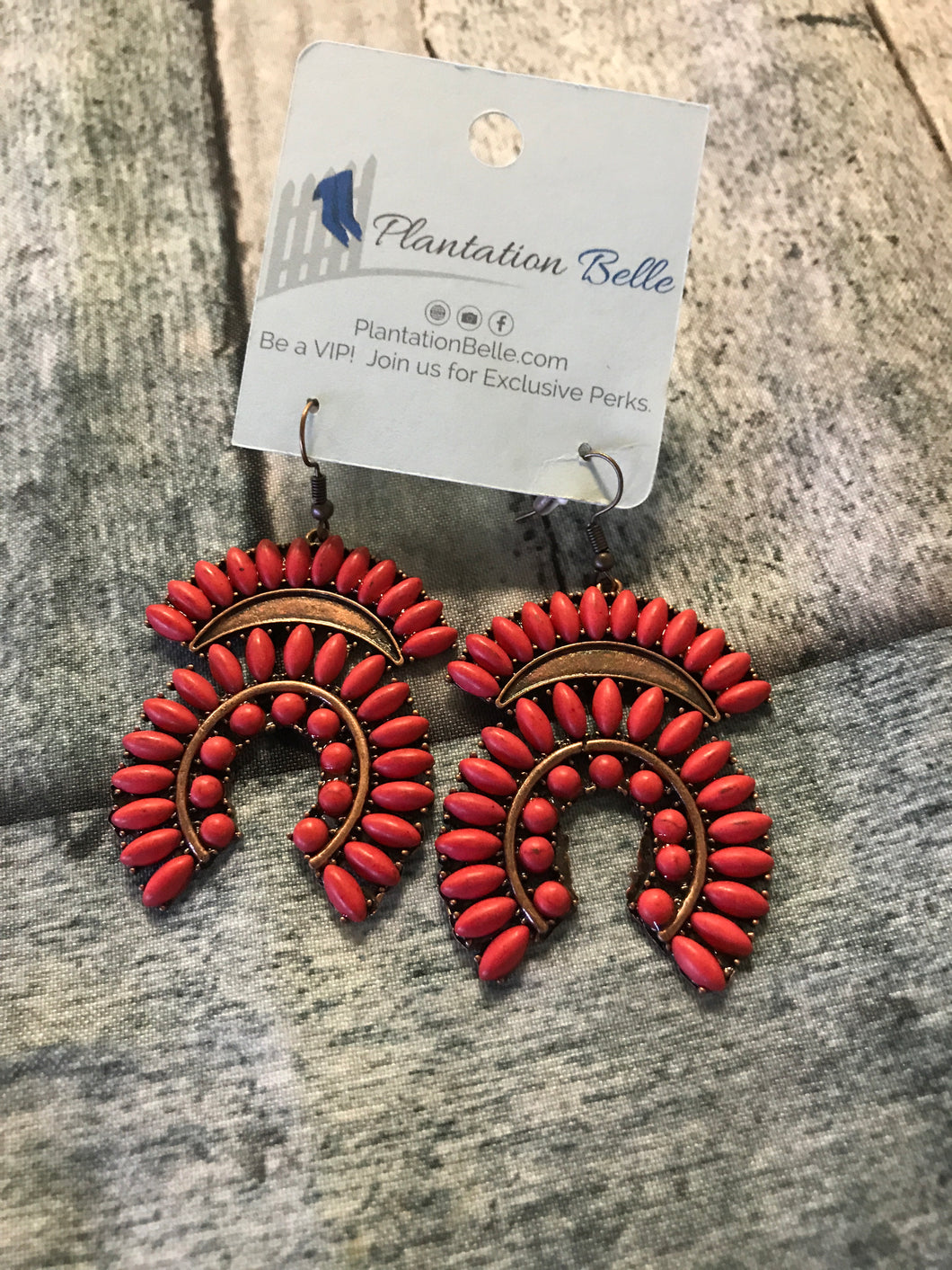 Red Stone Southwestern Dangles