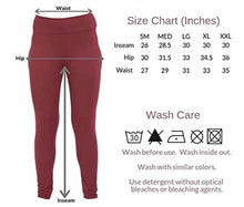 Load image into Gallery viewer, Maroon Ikat Yoga Waistband Career Leggings