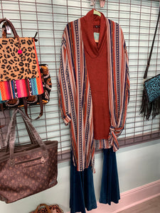 Luxe Rust Sweater Tunic