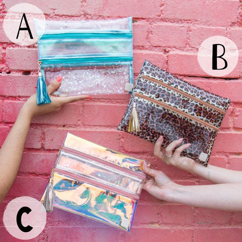 Clear Stadium Game Day/Beach Day Clutches