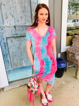 Cotton Candy Tie Dye Beach Dress