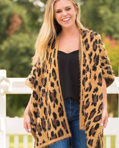 Mohair Leopard Sweater Jacket