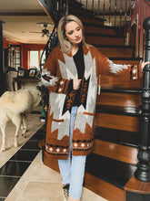 Load image into Gallery viewer, Aztec Morning Premium Sweater Coat