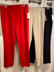 Eric Career Casual Slacks in Red
