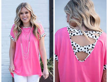 Load image into Gallery viewer, Pink Cheetah Details Top