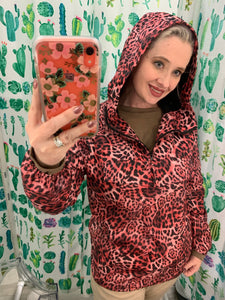 animal print raincoat windbreaker