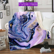Load image into Gallery viewer, Geode Swirl Minky Fleece Blankets