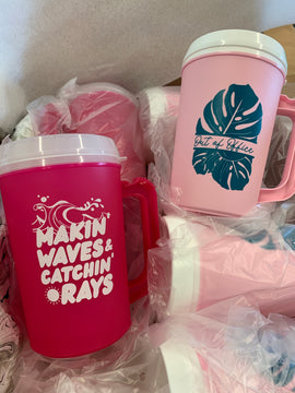 Summer Tumblers with Straws